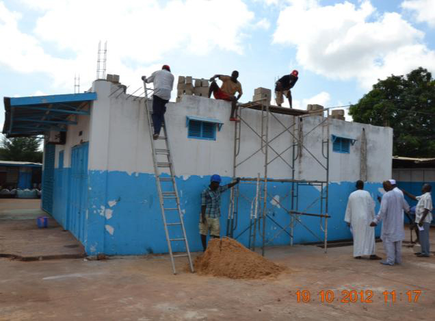 Building new driving school, Gambia