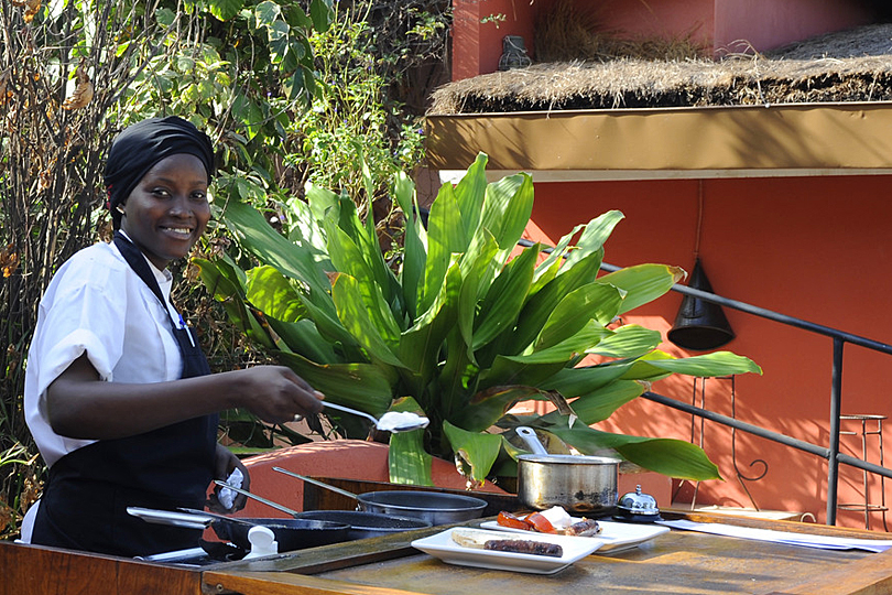 Breakfast at Ngala Lodge, Gambia - Boutique Hotel Gambia