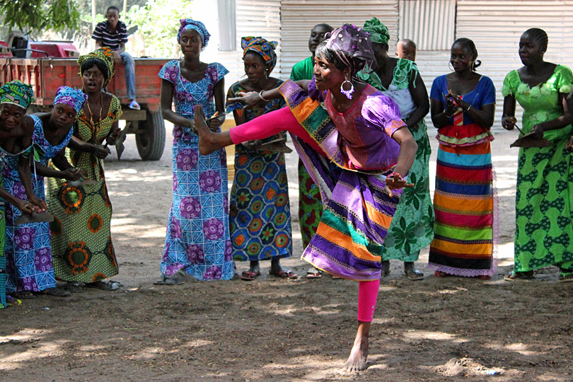 Women dancing at the village of Kunma, The Gambia