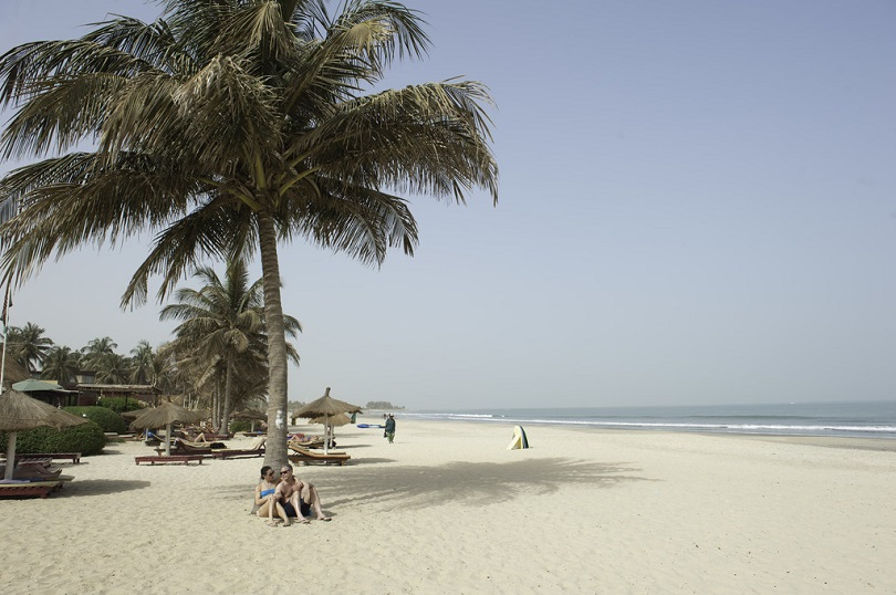 Idyllic beach on holidays to The Gambia