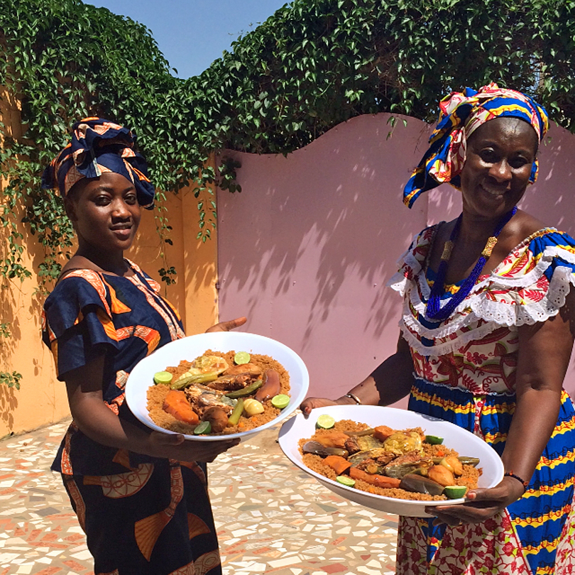 Things to do on a weekend in Gambia - Cooking with Ida - Fish Benechin
