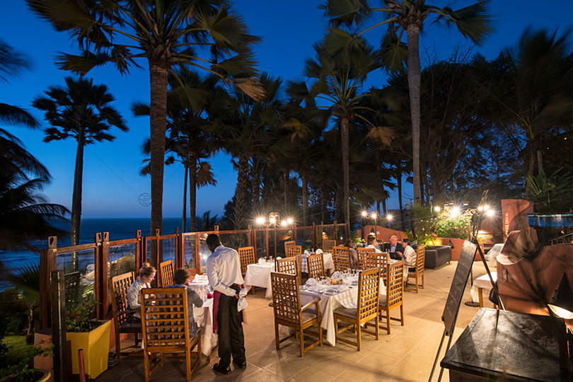 The romantic Ngala Lodge Restaurant, the Gambia, ine of our top ten romantic places in West Africa