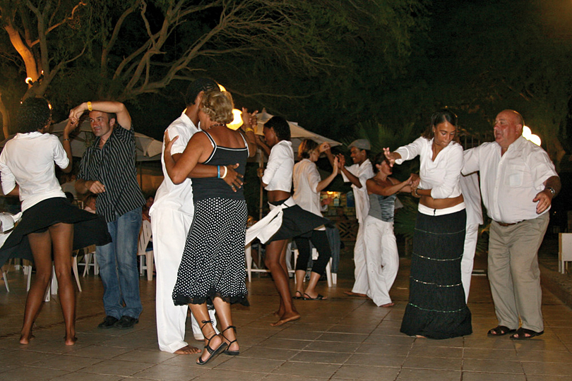 Dancing at Hotel Morabeza, Cape Verde