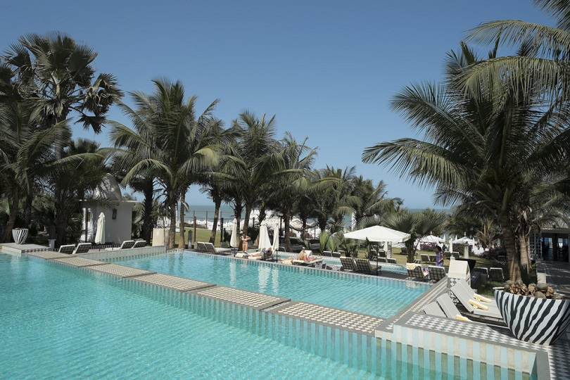 tiered swimming pool at Coco Ocean